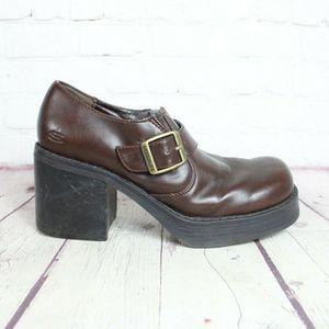 SKECHERS Something Else Leather Platform Shoes
